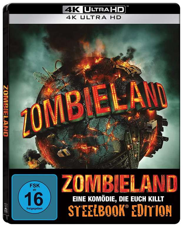 Zombieland Limited Steelbook Edition (4K Ultra-HD Blu-ray) für 22,48€ inkl. Versand (statt 30€)