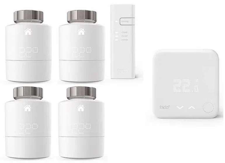 tado° Smart Starter Kit V3+ mit 4 Thermostaten und Funk-Temparatursensor für 259,90€ (statt 357€)