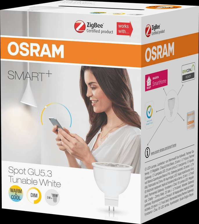 Osram Ledvance Smart+ Tunable White MR16 GU5.3 (per App steuerbar) für 20,55€