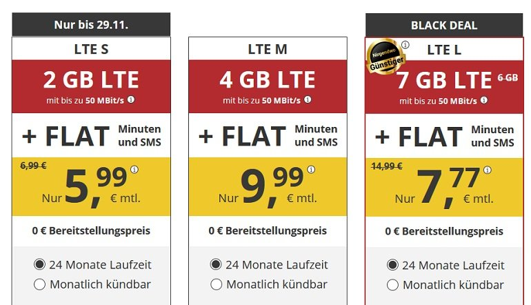 PremiumSim o2 Allnet-Flat mit 7GB LTE 2