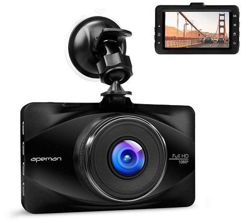 """apeman Full HD 1080P Dashcam mit 170° Weitwinkelobjektiv + 3"""" Bildschirm 29,97€"""