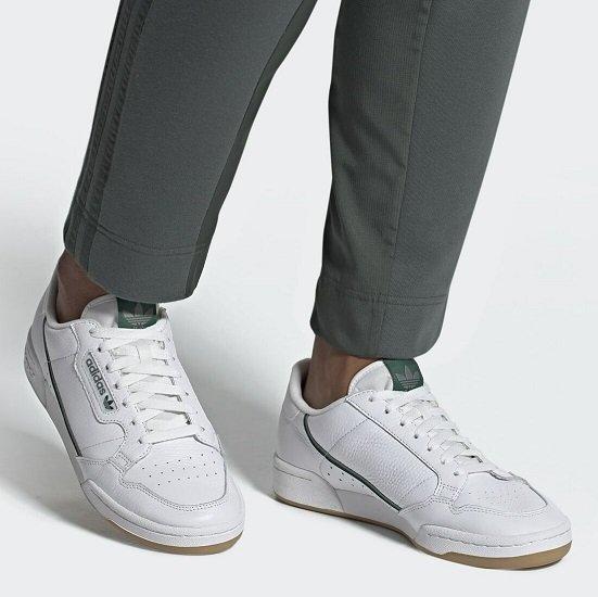 adidas Originals Continental 80 Herren Sneaker in weiß für 47,95€ (statt 63€)