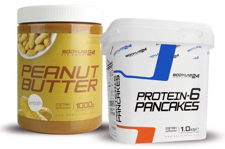 Bodylab24: 1kg Protein-6 Pancakes (Pulver) + 1kg Erdnussbutter (cremig oder stückig) für 13,29€