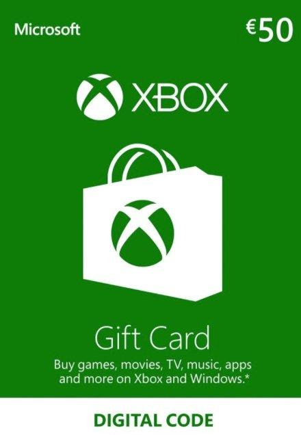 Digitaler Code: 50€ Xbox Live Guthaben für 43,32€ (statt 48€)