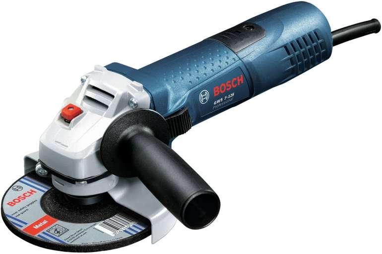 Bosch GWS 7-125 Professional Winkelschleifer (720 Watt, Scheiben-Ø: 125 mm) für 37,99€ (statt 54€)