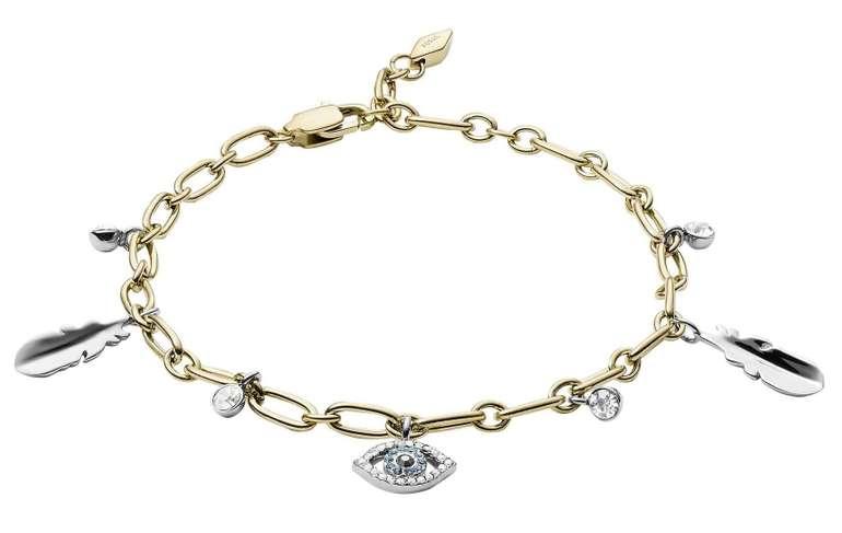 "Fossil Damen Armband ""Eye and Feather Charm"" (JF03291998) für 22€ inkl. Versand (statt 40€)"