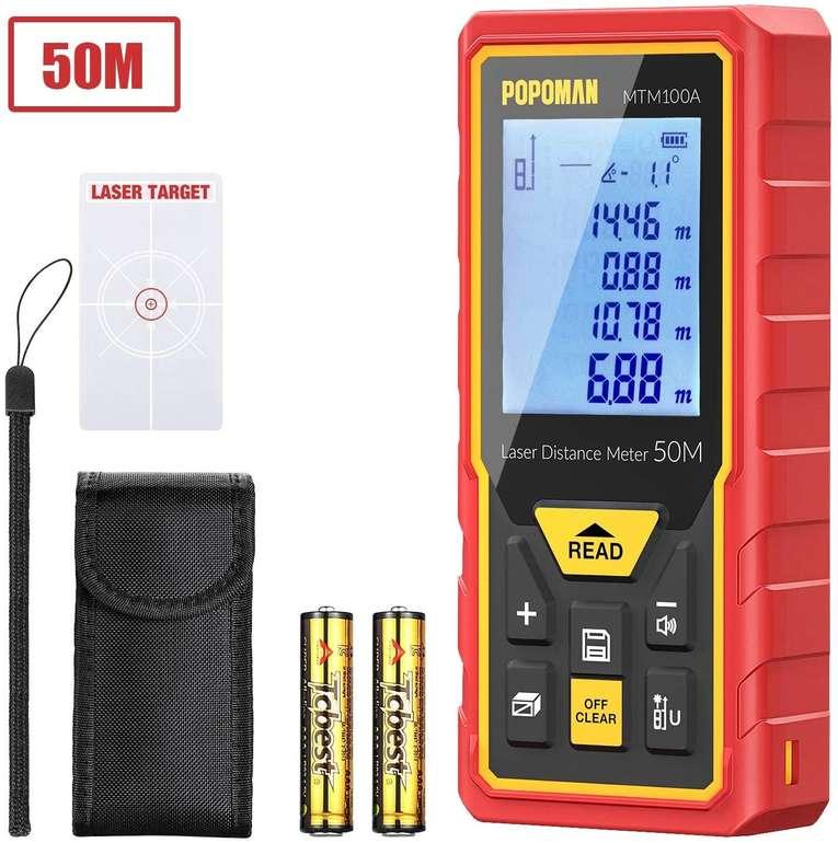 Popoman MTM100A Laser Entfernungsmesser mit LCD Bildschirm für 16,19€ inkl. Prime Versand (statt 27€)