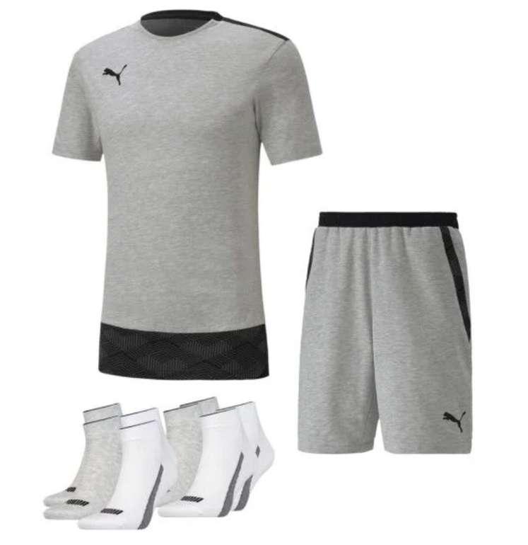 3-tlg. Puma Freizeit Outfit (T-Shirt, Shorts und 4 Paar Socken) für 39,95€ inkl. Versand (statt 57€)