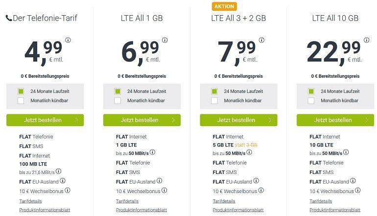 winSIM o2 AllNet Flat mit 5GB LTE 2