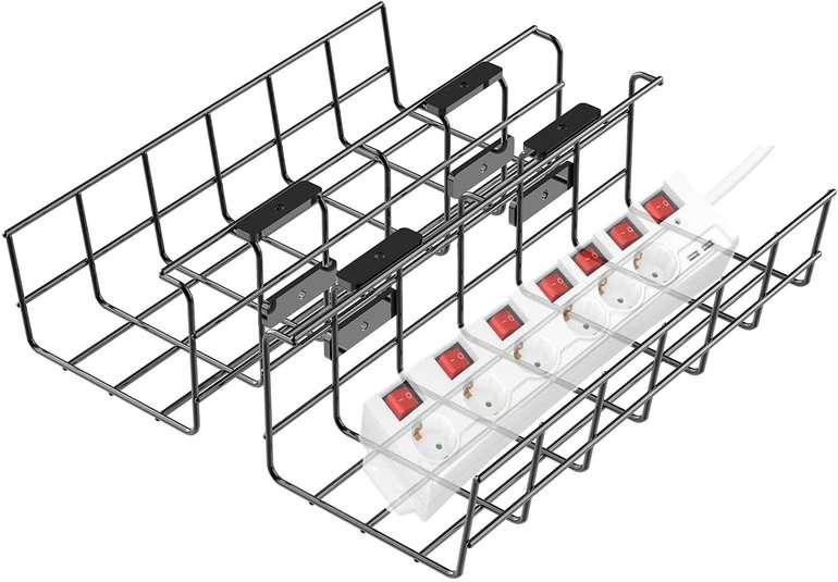 Angdarun Kabelkanal für Büro/Home-Office Tisch (2 Stück) für 9,67€ inkl. Prime Versand (statt 24€)