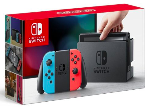 Nintendo Switch Spielkonsole in rot/blau für 276,24€ inkl. Versand