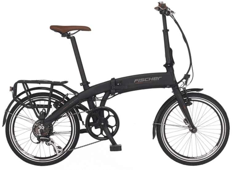 Fischer e-Faltrad FR 18 Citybike (20 Zoll, 30 cm, Faltrad, 317 Wh, Schwarz matt) für 890,96€ (statt 1.121€)