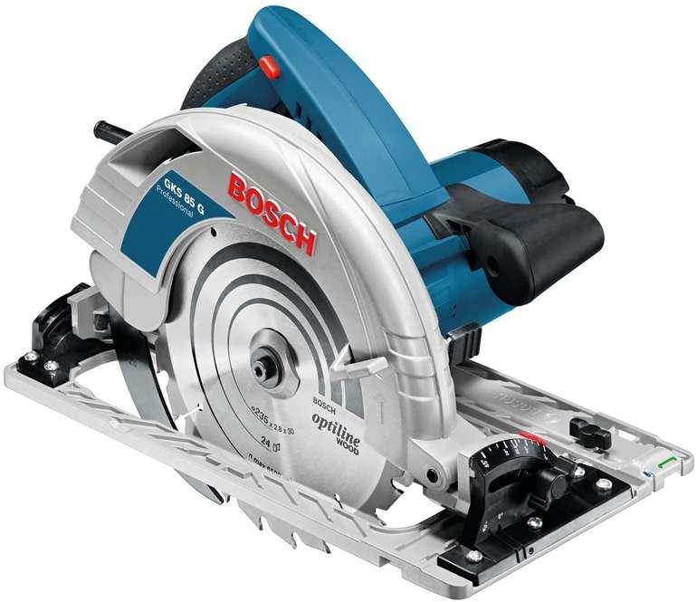 Bosch Handkreissäge GKS 85 G L-BOXX & Führungsschiene 1.6m für 283,50€ inkl. Versand (statt 315€)