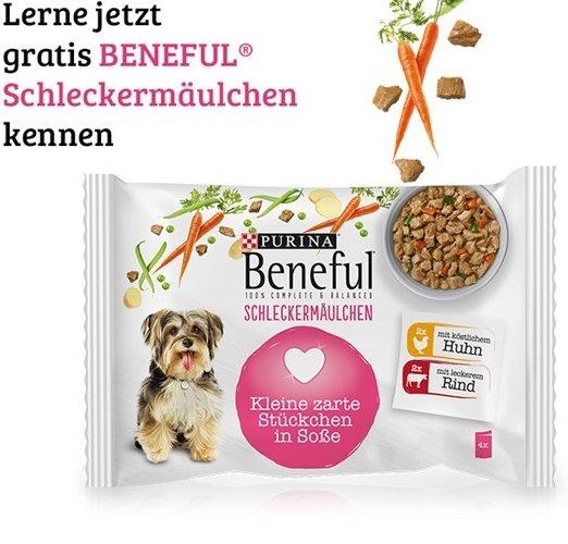 Gratisprobe: Purina Hundefutter Beneful Schleckermäulchen kostenlos erhalten