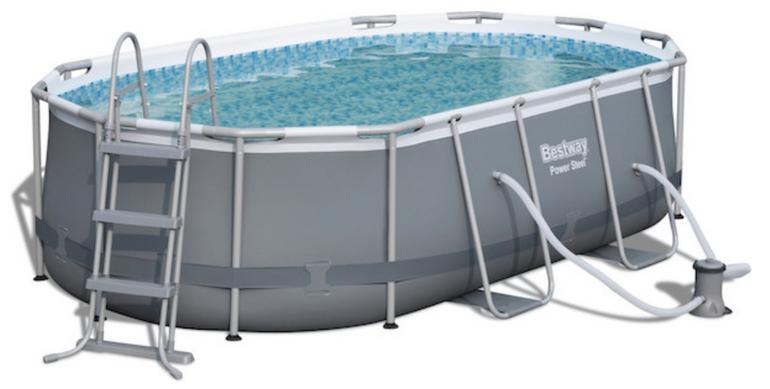 Bestway Oval Frame Stahlrahmen Pool Set (424 x 250cm) für 299,99€ bei Abholung