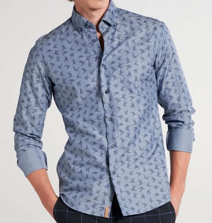 Eterna Sale mit 19% Extra-Rabatt auf versch. Hemden & Blusen (MBW: 49€) - z.B. Langarm Hemd Slim Fit Upcycling für 28,31€