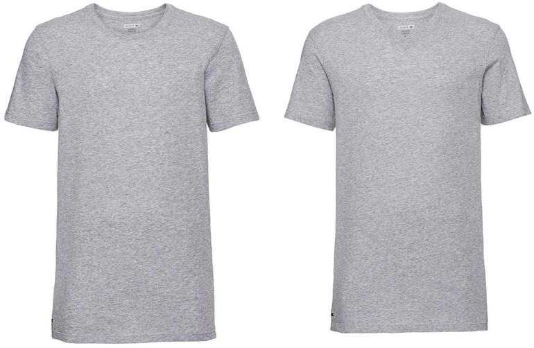 3er Pack Lacoste Herren T-Shirts (Rundhals / V-Neck) für 24,94€ inkl. Versand