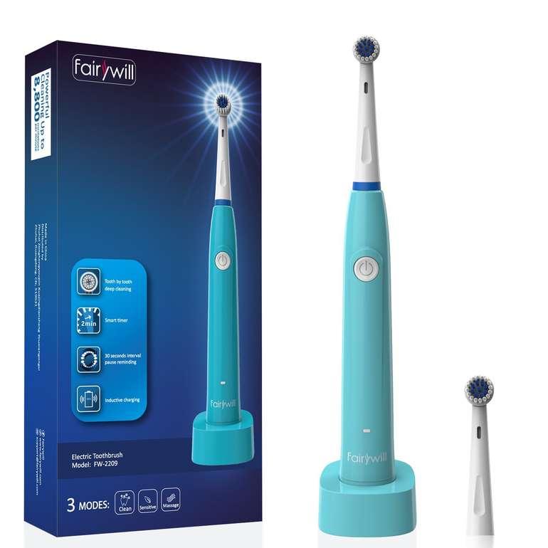 Fairywill 2209 - Elektrische Zahnbürste mit 3 Modi + Timer für 9,49€ (Prime)