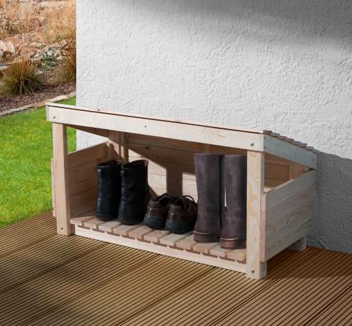 Weka Schuhbox / Stiefelbox (B 98 x H 59 x T 40 cm, naturbelassen) für 24,99€