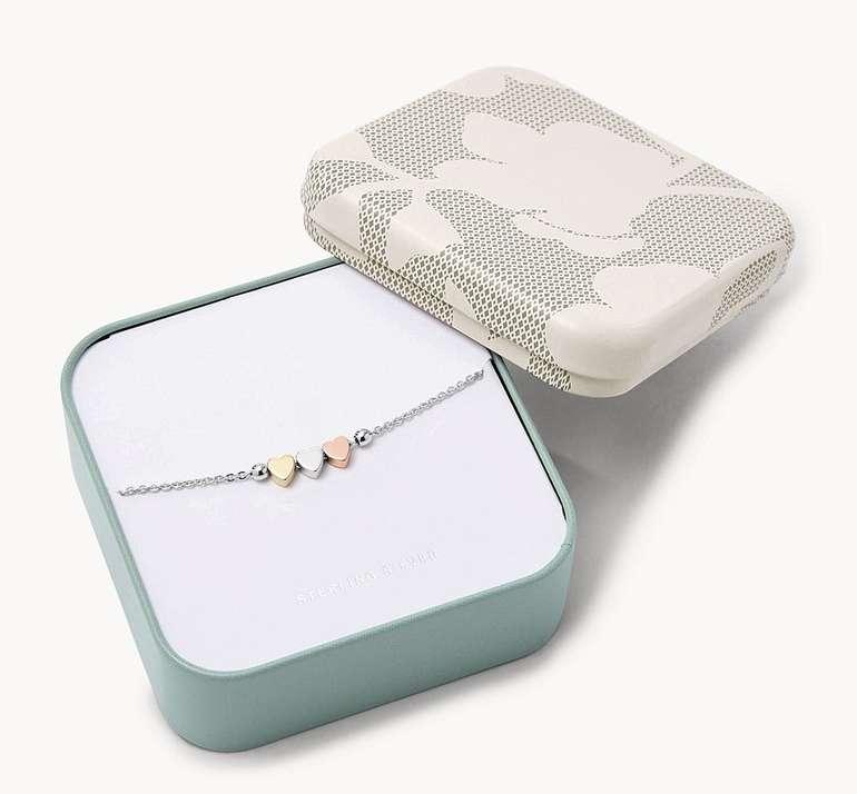 "Fossil Damen Armband ""Mother´s Day Heart"" (Sterling Silver) für 25,50€ inkl. Versand (statt 47€)"