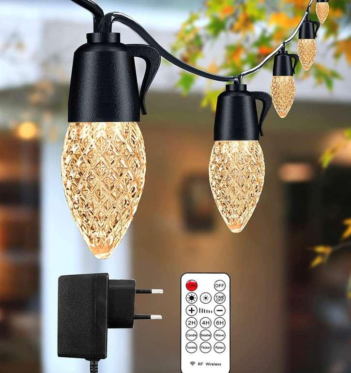 Germgenie Lichterkette Außen (15M, 20 x 1 Watt) für 27,99€inkl. Prime Versand (statt 40€)