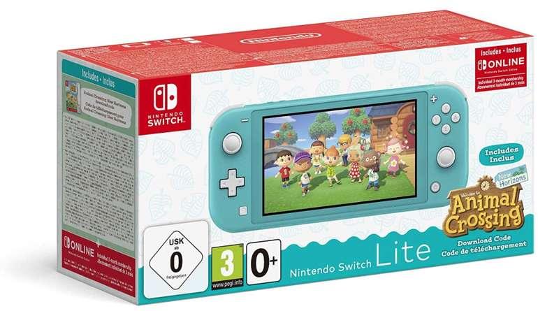 Nintendo Switch Lite Konsole + Animal Crossing: New Horizons + 3 Monate Nintendo Online für 189,99€ (statt 224€) - NL-Gutschein!