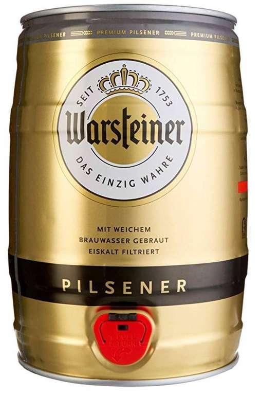 5 Liter Warsteiner Pils Fässchen für 7,99€ inkl. Prime Versand