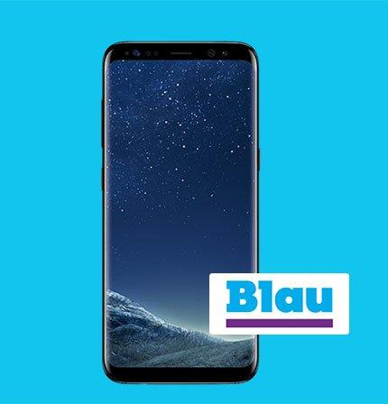 Samsung Galaxy S8 + Blau Allnet XL (Allnet, SMS-Flat, 4GB LTE) für 19,99€ mtl.