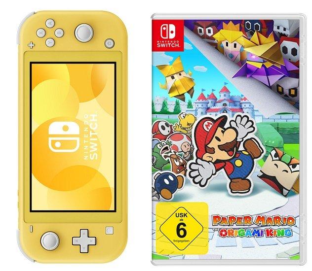 Nintendo Switch Lite Konsole gelb + Spiel Mario The Origami King für 209,99€ (statt 230€)