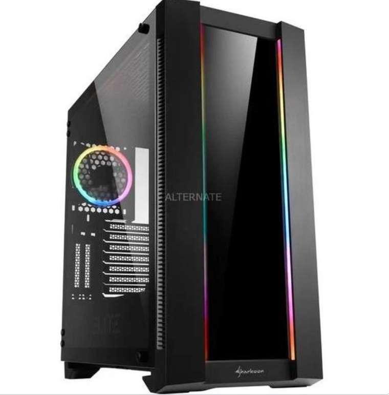 Sharkoon Elite Shark CA200G Big-Tower-Gehäuse (schwarz, Tempered Glass) für 91,89€ inkl. Versand (statt 123€)