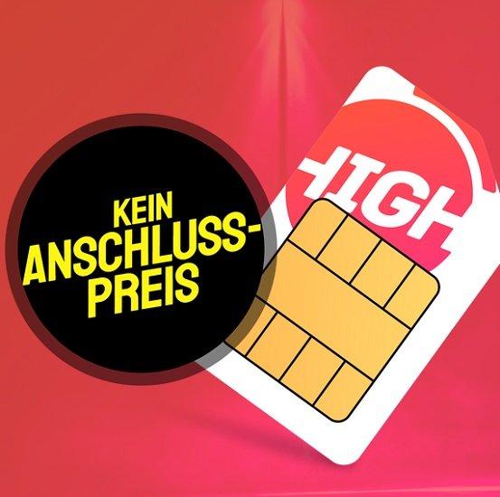 Sparhandy HIGH! Telekom Allnet-Flat mit 10GB LTE für nur 15€ mtl.