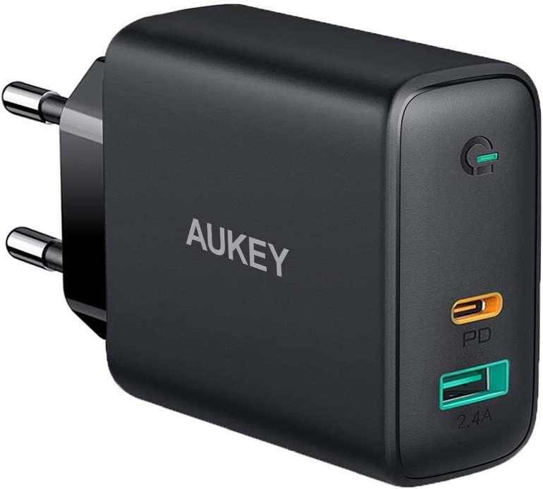 3 Aukey Produkte günstiger bei Amazon, z.B. 60W USB C Ladegerät für 29,89€