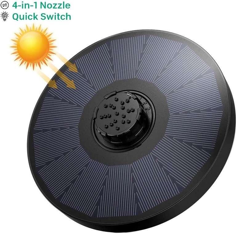 Omorc Solar Wasserpumpe (2W, 4-in-1 Düse) für 8€ inkl. Prime Versand (statt 20€)