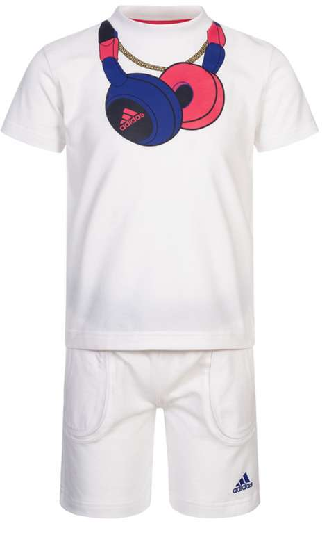 adidas Headphone Baby Sommer Set (Shirt + Shorts) für 15,94€inkl. Versand (statt 20€)