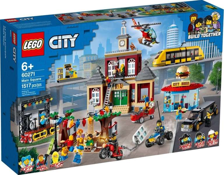 Lego City - Main Square (60271) + Lego Notizblock für 134,89€ inkl. Versand (statt 155€)