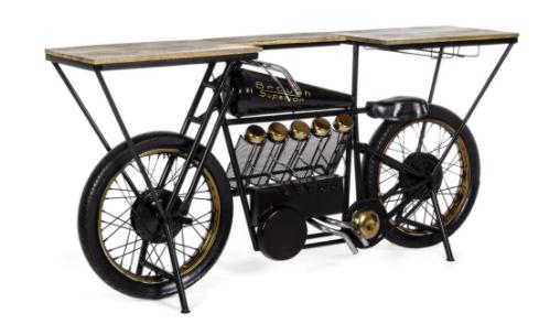 Interhome Bar Replica Schwarz/ Mangoholz (Motorrad oder Roller) für 908,25€ inkl. Versand (statt 1.198€)
