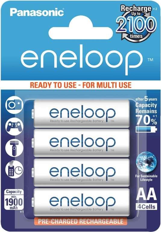 Panasonic Eneloop Mignon AA HR06 Batterie (4 Stück) für 6,94€ inkl. Versand (statt 11€)