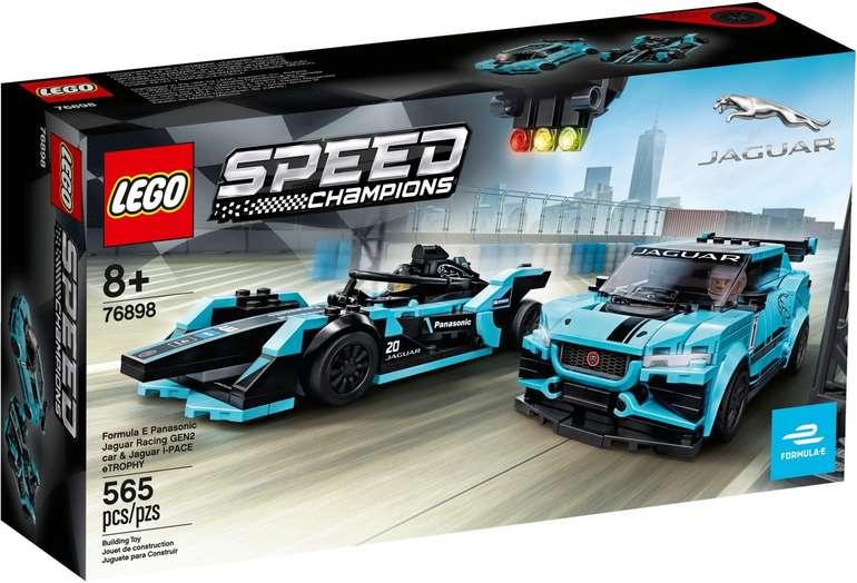 LEGO 76898 Speed Champions - Formula E Panasonic Jaguar Racing GEN2 car & Jaguar I-PACE eTROPHY für 25,99€ - Prime!