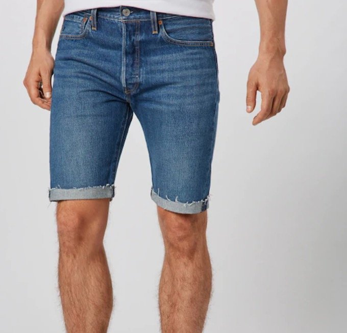 Levi's Herren Hemmed Shorts '501®' in blue denim für 22,46€ inkl. Versand (statt 38€)