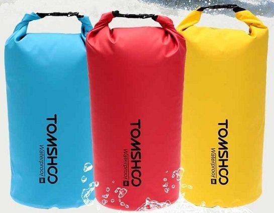 Tomshoo - 10L / 20L wasser- & staubfester Beutel bzw. Tasche ab 8,79€ inkl. VSK