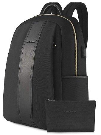 Kroser - 15,6 Zoll Laptop Rucksack aus Nylon-Gewebe mit USB-Anschluss für 15,59€