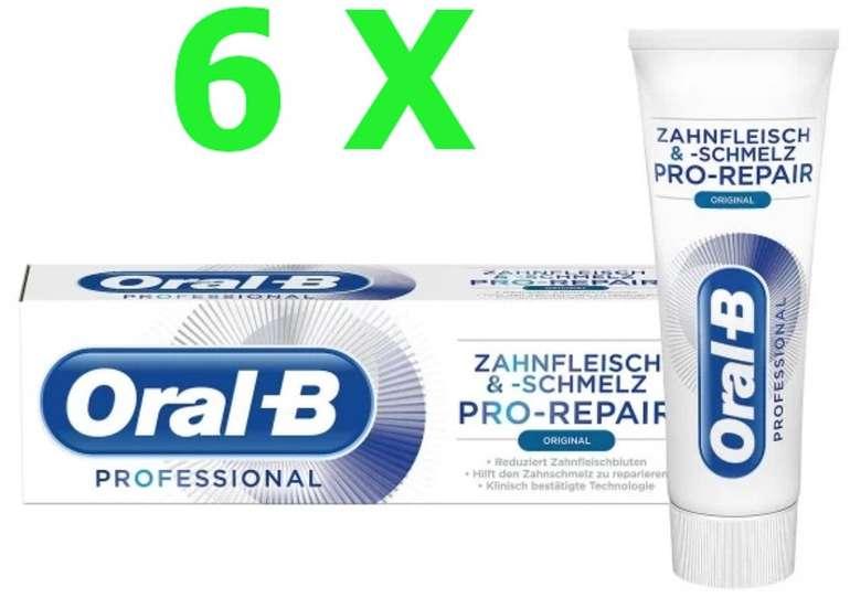 6er Pack Oral-B Professional Zahnfleisch&Schmelz Pro-Repair Original Zahnpasta (je 75ml) für 9,99€ (statt 15€)