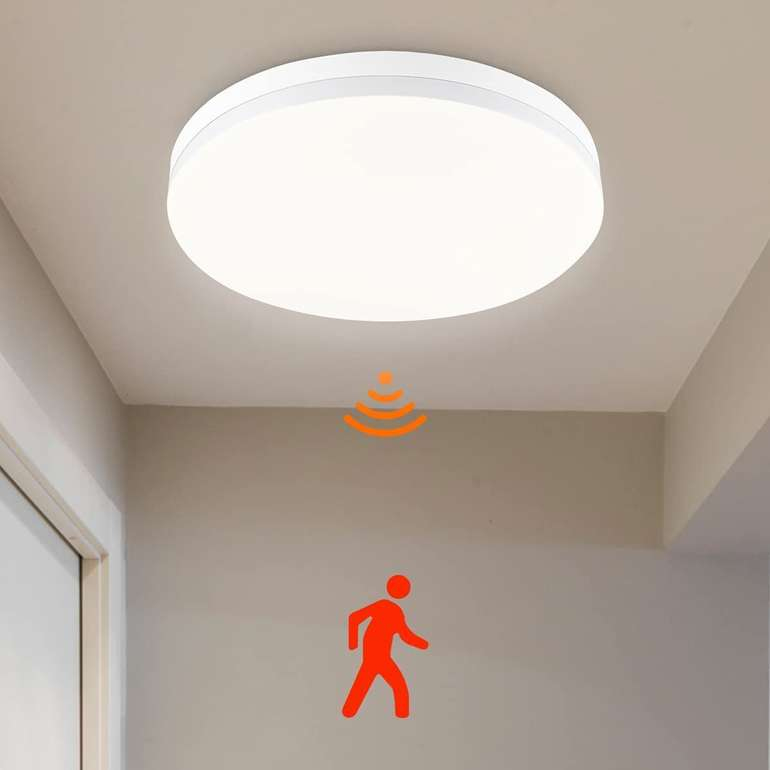 Shilook LED Deckenleuchte mit Bewegungsmelder (15W, IP44) für 15,59€ inkl. Prime Versand