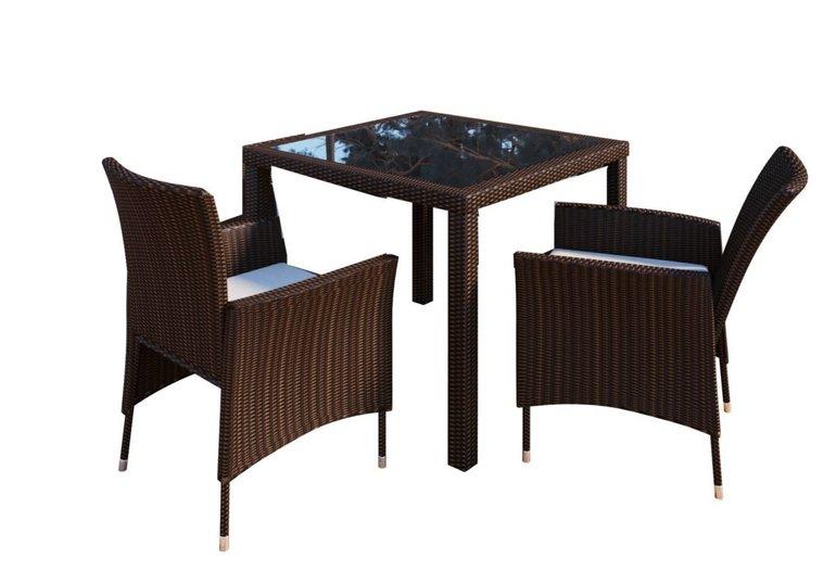 VCM Rattan Sitzgruppe Tisch Mit 2 Stühlen Für 149 99€ Inkl …
