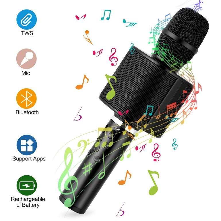 Mbuynow Kabelloses TWS 4.1 Bluetooth Karaoke Mikrofon für 9,97€ (Prime)