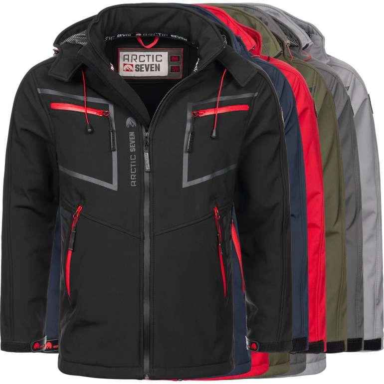 Arctic Seven AS088 Herren Designer Softshell Funktions Outdoor Regenjacken für 49,90€