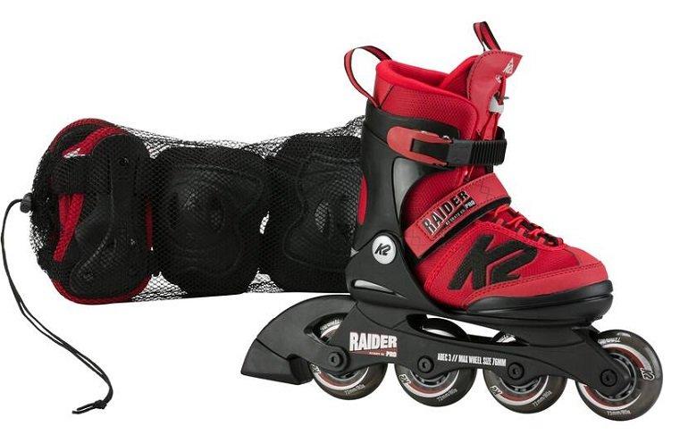K2 Raider Pro Pack Kinder Skates in Rot/Schwarz für 59,99€ (statt 80€) - Newsletter abonnieren!