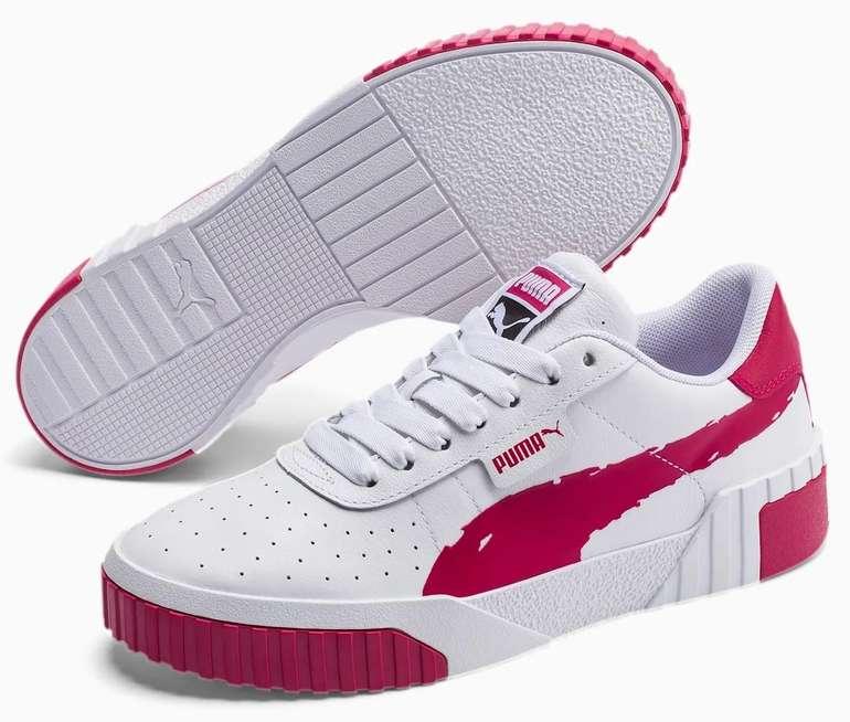 Cali Brushed Damen Sneaker in white-cerise für 37,49€ inkl. Versand (statt 50€)
