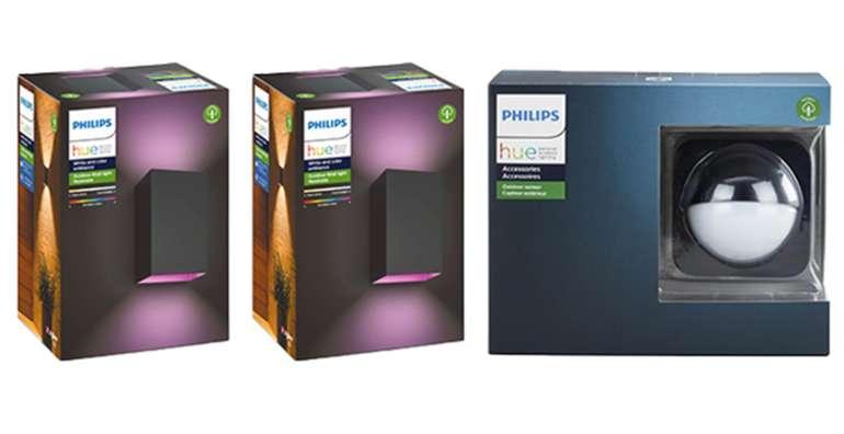 Philips Hue Outdoor 2x Resonate Wandleuchten + Outdoor Motion Sensor für 209,90€inkl. Versand (statt 286€)