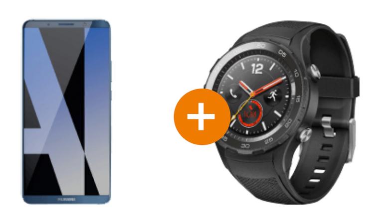 Huawei Mate 10 Pro 128GB + Huawei Watch 2 für 679€ (statt 810€)